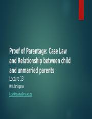 Lecture 13 Relationship Between The Child And Unmarried Parents.pptx