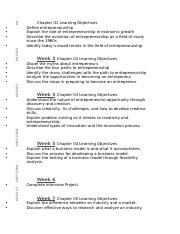 ENT 3003 Learning Objectives Exam 1.docx