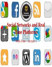 Lecture 07 Social Networks and Real Time Platforms