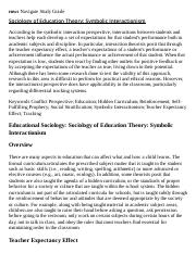 Sociology of Education Theory_ Symbolic Interactionism Research Paper Starter - eNotes.pdf