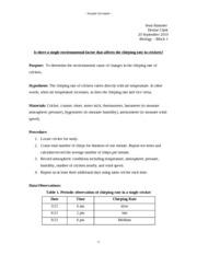 Sample lab report high school
