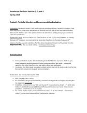 Project -- Evaluation of Investment Recommendations.docx