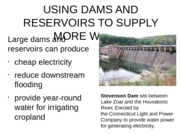 dams and resevoirs