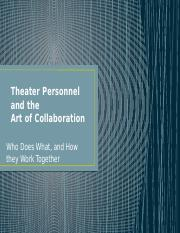 Theater Personnel
