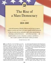 chapter 13 the rise of a mass democracy