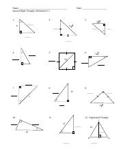 HW Special Right Triangles Worksheet.doc