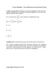 03Vector Arithmetic