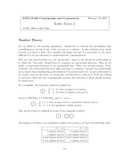Factorization and Number Theory notes