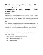 Week 11 Lab Session - Food Forensics and Biotechnology.docx