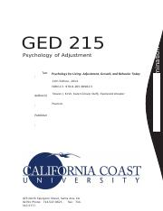 GED 215 - Psychology of Adjustment (Final Exam).docx