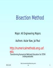 bisection method