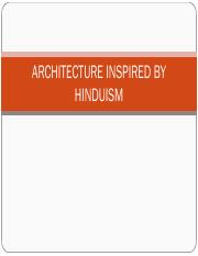ARCHITECTURE INSPIRED BY HINDUISM