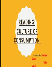 Culture of Consumption ppt CHP 2