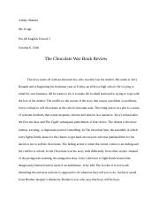 Chocolate War review.docx