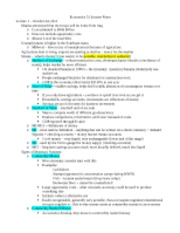 Economics 51 Unit 3 Lecture Notes