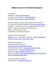 CMS 306M-Chapter 10-Helpful Links for Scholarly Research
