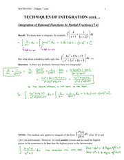 MATH1020-Techniques of Integration-Integration of Rational function by partial Fraction