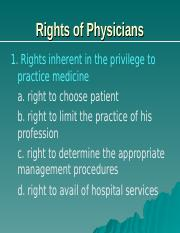 2014_Rights of Physicians_patients