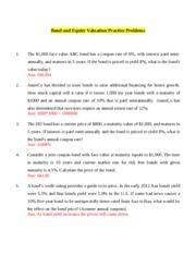 Bond Valuation and equity valuation Practice Problems (1).docx