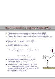 95. Electric Potential of a Uniformly Charged Wire