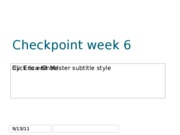 Checkpoint week 6