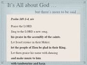 Devotional - All about God ... more to be said