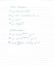 More Problems - graphs, derivatives
