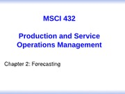 Chapter 2 - Forecasting