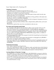 Psychology 509 Exam 1 ch.1 study guide