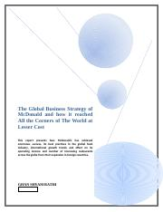 The_Global_Business_Strategy_of_McDonald_and_how_it_reached_All_the_Corners_of_The_World_at_Lesser_C