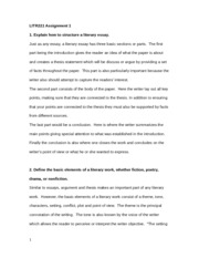 explain how to structure a literary essay Apply grade 4 reading standards to informational texts (eg, explain how an writing about reading unit: literary essay 4th grade 21st (lo) students structure their essay century skills reading strategies to interpret and writing about reading unit: literary essay 4 grade writing.