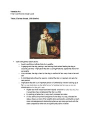Venetian Art Final Exam Study Guide
