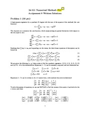 Numerical Methods  - Homework 9 Written Solutions