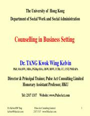 SOWK Counselling in Business Setting-Ethical issues in workplace counselling