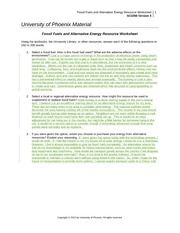 sci 256 fossil fuels and alternative energy resource worksheet On their time and energy than any institution  this facility offers alternative renewable fuels to heat and provide a  next to the academic resource.