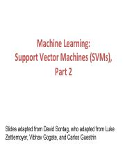 SVM2-Kernels pdf - Machine Learning Support Vector Machines