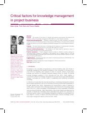 Critical factors for knowledge management.pdf