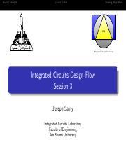 Ece 615 Design Of Analog Integrated Systems جامعة الأهرام الكندية