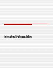 International Parity Conditions.ppt