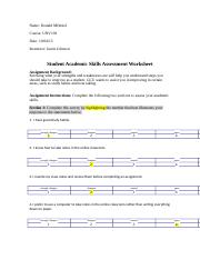 UNV103.R.Student Academic Skills Assessment Worksheet_03-24-14