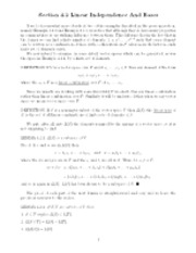 Linear independence notes