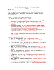 Study Guide - Midterm