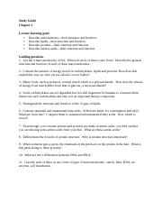 Study Guide Chapter 2