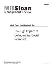 The high impact of collaborative social initiatives - Pearce.pdf