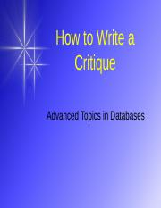 How_to_Write_a_Critique