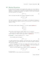 Section 5: Radical Equations
