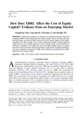 how does XBRL affect the cost of equity capital evidence from an emerging market