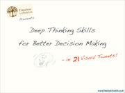 Learn Thinking Skills for Decision Making in 21 Visual Tweets