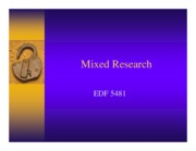 5 - Chapter 16 - Mixed Research