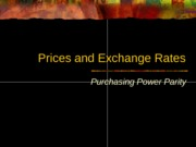 Prices and Exchange Rates